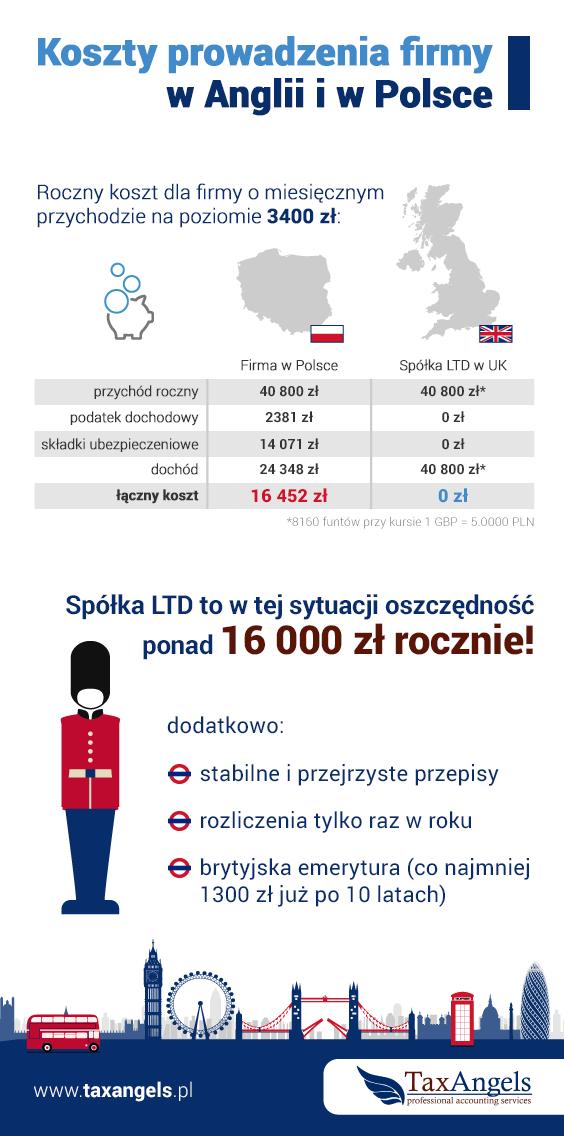 Infografika - firma ltd, firma w Polsce